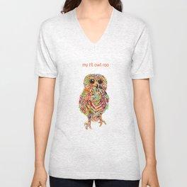 Lil roo Owl Unisex V-Neck