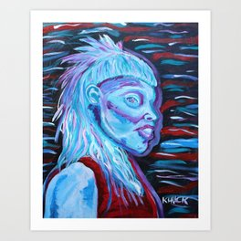 Yolandi Visser Portrait Fan Art Art Print