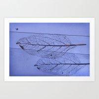 leaf Art Prints featuring leaf by Bunny Noir