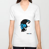 kraken V-neck T-shirts featuring Kraken by Madera Arts