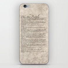 US Constitution - United States Bill of Rights iPhone & iPod Skin