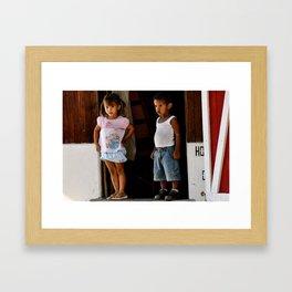 Children of Costa Rica Framed Art Print