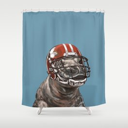 Rugby Hippo Shower Curtain