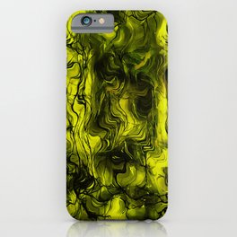 Nervous Energy Grungy Abstract Art In Black and Yellow iPhone Case