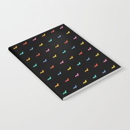 Colored Dogs on Black Notebook