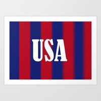 usa Art Prints featuring USA by Caio Trindade