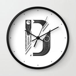 "Tao ""letter D"" Wall Clock"