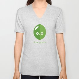 Lime Yours Unisex V-Neck