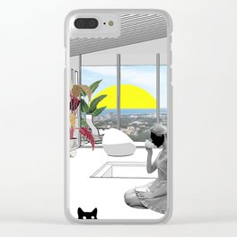 Me, myself and my Cat Clear iPhone Case