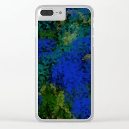 Peacock crystal mosaic Clear iPhone Case