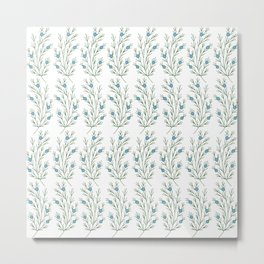Abstract Juniper Branch | Embroidery Pattern | Botanical Metal Print