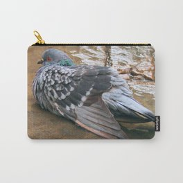 Pigeon in Puddle Photography Carry-All Pouch