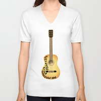 woody V-neck T-shirts featuring Woody by Derek Donovan