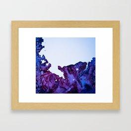 Falling Circumstance - Blue Framed Art Print