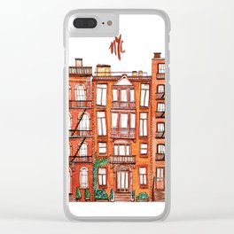 NYC - Watercolor Clear iPhone Case