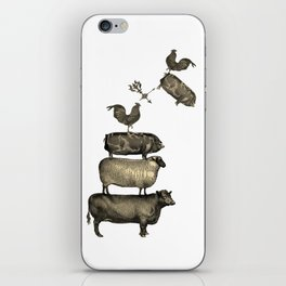 Farm Living - Stacked Animals iPhone Skin