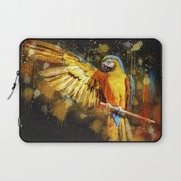 Ara Parrot Yellow Macaw Laptop Sleeve