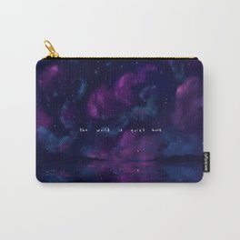 the world is quiet Carry-All Pouch