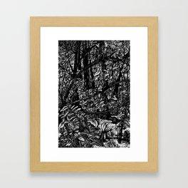 Swamp Crossing Framed Art Print