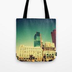 Chicago Retro Skyline ~ architecture Tote Bag