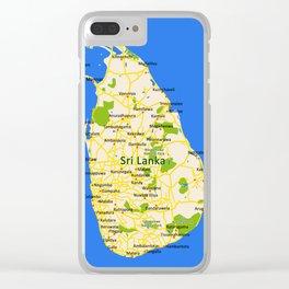 Sri Lanka Map Design Clear iPhone Case