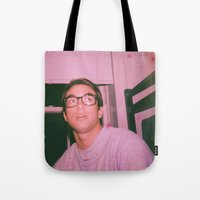 ashton irwin Tote Bags featuring IRWIN by LAUNCH
