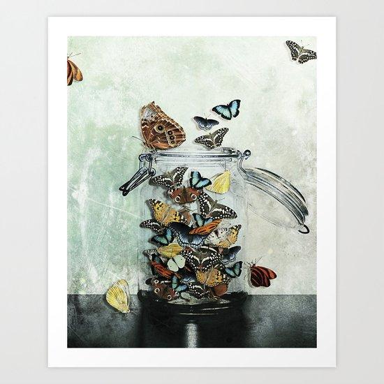 Butterfly Jar Art Print