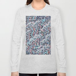 black topography Long Sleeve T-shirt