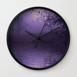 SONG OF THE NIGHTBIRD - LAVENDER Wall Clock