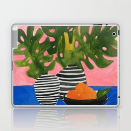 Pink Wall Monstera Laptop & iPad Skin
