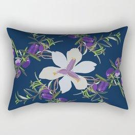 2941 Appleberry Iris P1 Blue Rectangular Pillow