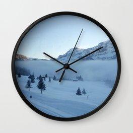 Early Morning Ski Wall Clock