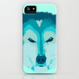 husky - teal iPhone Case