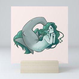 Mako Shark Mermaid Mini Art Print