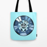 breakfast club Tote Bags featuring The Breakfast Club by LuisD