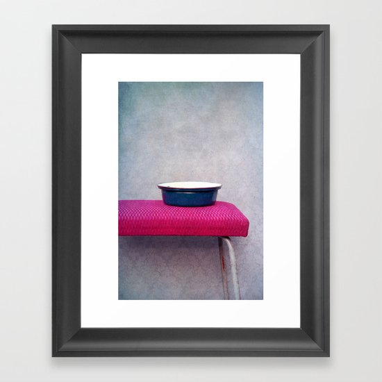 Pot and stool Framed Art Print