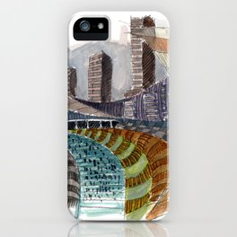 Meandering Landscapes: November Train iPhone Case