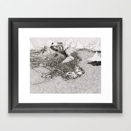Cape Town Framed Art Print by BenSack | Society6