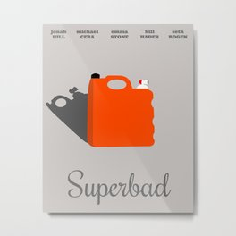 Superbad Minimalist Movie Poster Metal Print