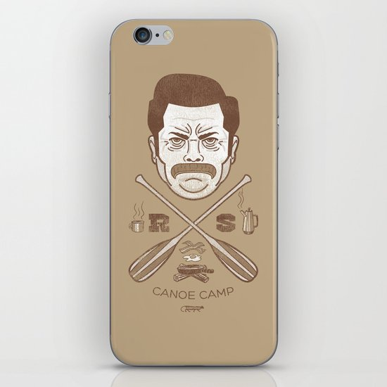 Ron Swanson Canoe Camp (dirty brown variant) iPhone & iPod Skin