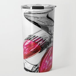 Cadillac Tail Fins, Mid Century Car Art by Murray Bolesta Travel Mug