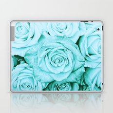 Turquoise roses - flower pattern - Vintage rose on #Society6 Laptop & iPad Skin