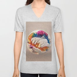 ACRYLIC BALL II // 3D ABSTRACT Unisex V-Neck