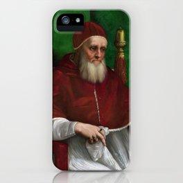 Raphael - Portrait of Pope Julius II iPhone Case