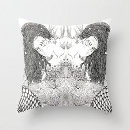 Lady fish Throw Pillow