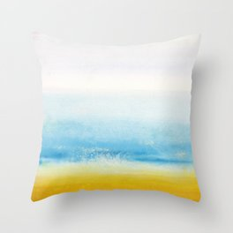 Waves and memories Throw Pillow