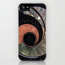 Spiral glass staircase iPhone Case