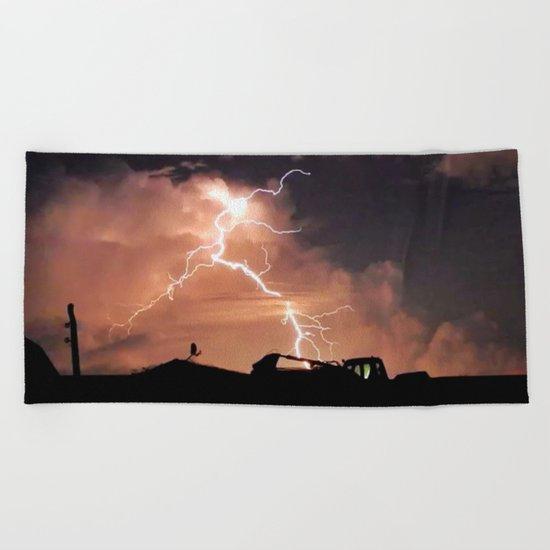 Mister Lightning Beach Towel