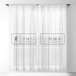 Liverpool minimal logo Black Sheer Curtain