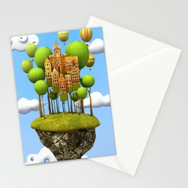 New City in the Sky Stationery Cards